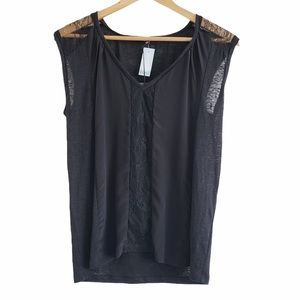 Aritzia Babaton Billie t-shirt blouse black XS